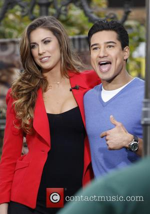 Katherine Webb and Mario Lopez - Sports Illustrated model Katherine Webb at The Grove to appear on entertainment news show...