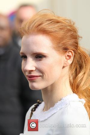 Jessica Chastain - Paris Fashion Week - Autumn/Winter 2013 - Chanel - Arrivals - Paris, France - Tuesday 5th March...