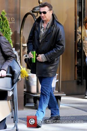 Liam Neeson - Actor Liam Neeson leaves his hotel in New York City - New York City, United States -...