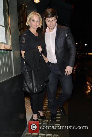 Jennifer Ellison and Robbie Tickle - Jennifer Ellison and husband Robbie Tickle leave The Ivy - London, United Kingdom -...