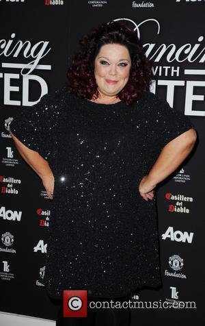 Lisa Riley - 'Dancing with United' at The Point Old Trafford Cricket Ground - Arrivals - Manchester, United Kingdom -...
