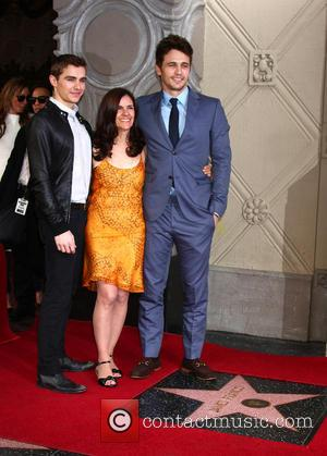 Dave Franco, Betsy Franco and James Franco - James Franco is honoured with a Hollywood Star on the Hollywood Walk...
