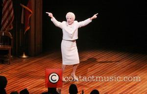 Holland Taylor - Holland Taylor in costume as Ann Richards for the opening night curtain call for ANN at the...