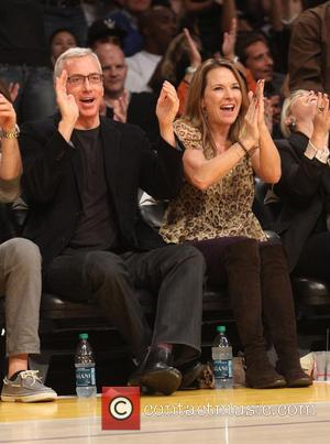 Dr. Drew and Wife - Celebrities watch the Los Angeles Lakers play the Toronto Raptors at the Staples Center -...