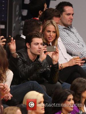 Josh Henderson - Celebrities watch the Los Angeles Lakers play the Toronto Raptors at the Staples Center - Los Angeles,...