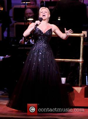 Megan Hilty - Ryan Silverman and Megan Hilty performing at The New York Pops Concert Luck Be A Lady held...