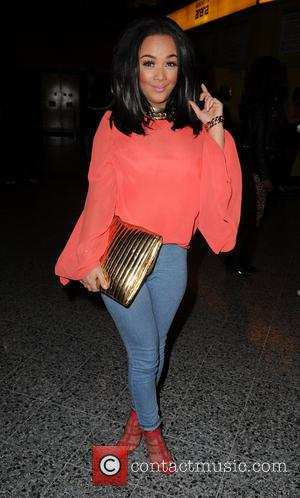 Chelsee Healey - Chelsee Healey, holding a large gold clutch, at Manchester Arena to see Ne-Yo in concert - Manchester,...