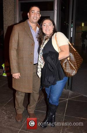 Darrin Jackson and Jo Frost - Celebrities outside the RTE Studios for 'The Late Late Show' - Dublin, Ireland -...