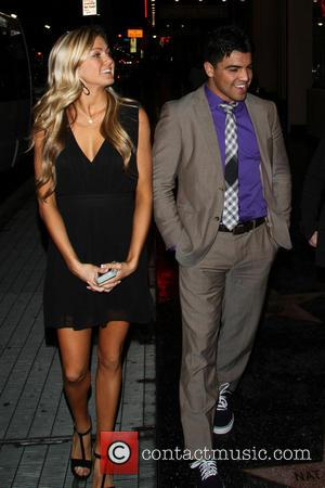 Victor Ortiz and Lindsay Arnold - Celebrities outside the Pantages Theatre in Hollywood to see 'Mike Tyson: Undisputed Truth' -...