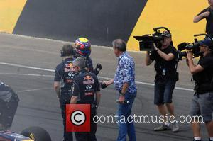 Mark Webber and Jeremy Clarkson Shake Hands - Top Gear Festival 2013 at the Motorsport Park - Syndey, Australia -...