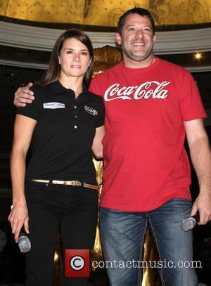 Danica Patrick and Tony Stewart - Danica Patrick and Tony Stewart meet and greet fans at the MGM Grand Hotel...