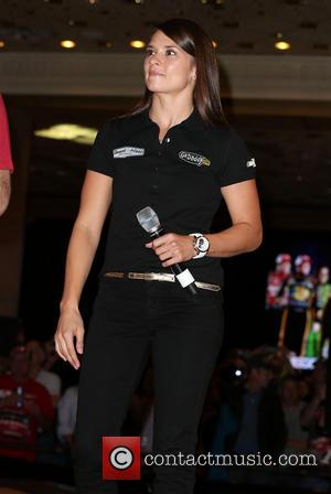 Danica Patrick - Tony Stewart and Danica Patrick Appear In The Lobby at MGM Grand Resort and Casino - Las...