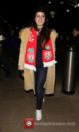 Lana del Rey - Lana del Rey leaves Anfield Stadium wearing a Liverpool F.C. scarf after watching them defeat Tottenham...