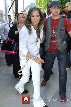 Steven Tyler - Aerosmith frontman, Steven Tyler leaves after his performance from the 10th Annual John Varvatos Stuart House Benefit...