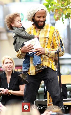 Ziggy Marley and Abraham Marley - Ziggy Marley promotes his new children's book 'I Love You Too' in Hollywood with...