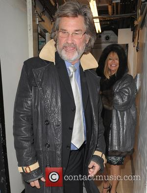 Kurt Russell and Goldie Hawn - Kurt Russell and his wife Goldie Hawn, appear rather camera-shy as they leave Annabels...
