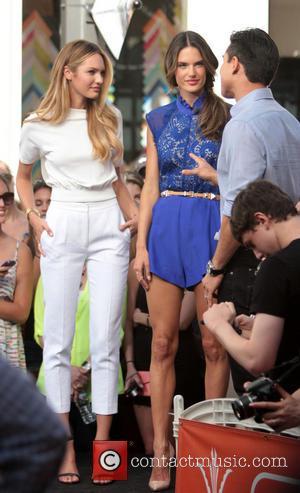 Candice Swanepoel, Alessandra Ambrosio and Mario Lopez