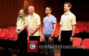 Louisa Krause, Matthew Maher, Aaron Clifton Moten and Alex Hanna - Curtain call for the world premiere of The Flick...