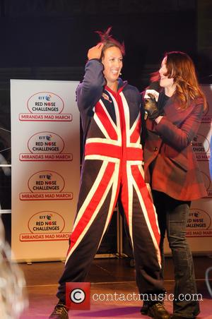 Miranda Hart - Miranda's Mad March - Red Nose challenge for Comic Relief 'Spice Up Your Life - Onesie Direction'...