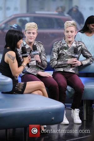 John Grimes and Edward Grimes - Jedward interview and performance on MUCH Music's NEW.MUSIC.LIVE show - Toronto, Ontario, Canada -...