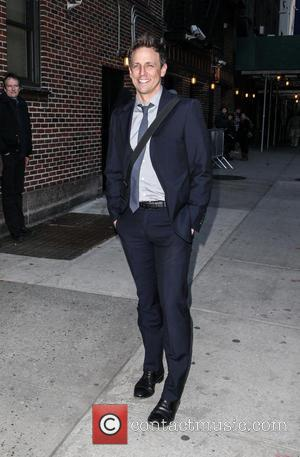 Seth Meyers - Celebrities outside the Ed Sullivan Theater for 'The Late Show with David Letterman' - New York City,...