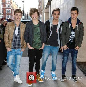 George Shelley, Jaymi Hensley, Josh Cuthbert, JJ Hamblett and Union J - Celebrities arrive at the BBC Radio 1 studios...