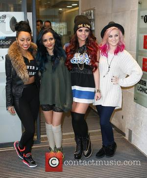 Leigh-Anne Pinnock, Jade Thirlwall, Jesy Nelson, Perrie Edwards and Little Mix - Celebrities arrive at the BBC Radio 1 studios...