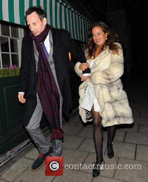 Jade Jagger and Adrian Fillary - Celebrities leaving the Dior party at Harry's Bar - London, United Kingdom - Thursday...
