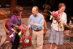 Sigourney Weaver, David Hyde Pierce and Kristine Nielsen - Curtain call for the Broadway premiere of VANYA AND SONIA AND...