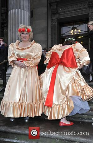 Jennifer Saunders and Dawn French - The BT Red Nose Challenge: Miranda's Mad March - Finish - held at Westminster...