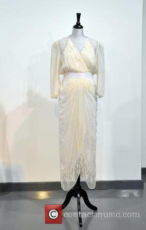 A Zandra Rhodes White Chiffon Cocktail Dress, Worn To The Birthright Benefit At The London Palladium In 1987. Est. Gbp30-40000. and Atmosphere