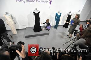 Auction Preview Of Princess Diana's Dresses Held At Kerry Taylor Auctions. and Atmosphere