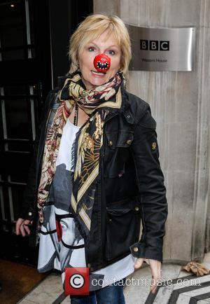 Jennifer Saunders - Celebrities at the BBC Radio 2 studios for Red Nose Day - London, United Kingdom - Friday...