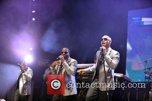 New Edition - New Edition performs at the 8th Annual Jazz In The Gardens Day 1 at Sun Life Stadium...