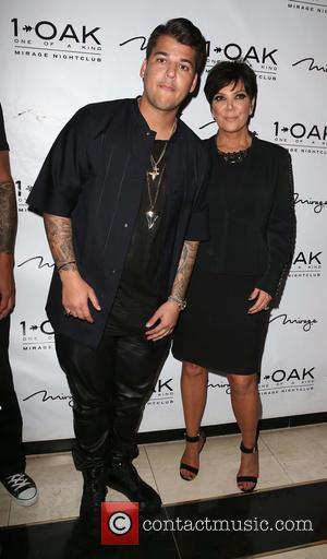 Rob Kardashian , Kris Jenner - 1 Oak Nightclub celebrates Rob Kardashian's 26th Birthday inside Mirage Resort and Casino -...