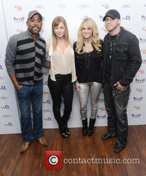 Darius Rucker, LeAnn Rimes, Carrie Underwood and Brantley Gilbert - Photo call for