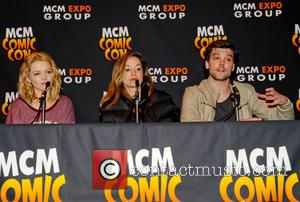 Hannah Spearritt, Lucy Brown and Andrew Lee Potts - MCM Birmingham Memorabilia Comic Con at Birmingham NEC - Day Two...