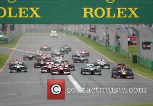 Sebastian Vettel leads - Formula One 2013 Australian Grand Prix - Race - Melbourne, Australia - Sunday 17th March 2013
