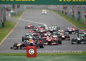 Sebastian Vettel leads - Formula One 2013 Australian Grand Prix - Race - Melbourne, Australia - Sunday 17th March 2013