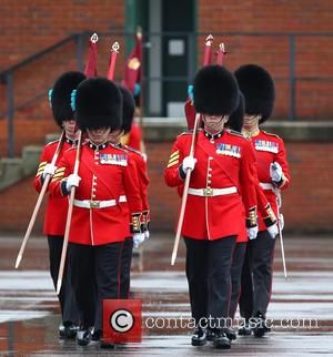 Irish Guards - Prince William,Duke of Cambridge and Catherine, Duchess of Cambridge, Kate Middleton attend St Patrick's Day military parade...