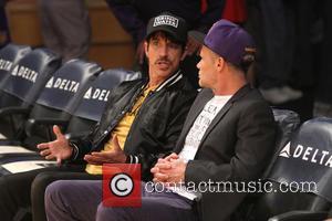 Anthony Kiedis and Flea - Los Angeles Lakers v Sacramento Kings. Lakers won 113-102 at Staples Center - Los Angeles,...