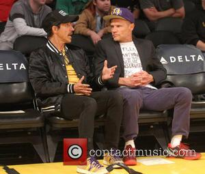 Anthony Kiedis and Flea - Los Angeles Lakers v Sacramento Kings. Lakers won 113-102 at Staples Center - Los Angeles,...