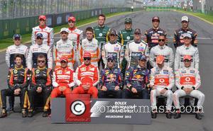 Kimi Raikkonen, Felipe Massa, Fernando Alonso, Sebastian Vettel, Mark Webber, Jenson Button, Lewis Hamilton and Formula One drivers