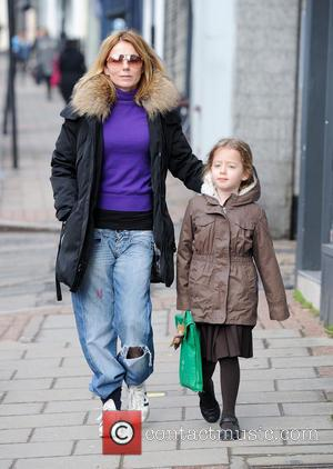 Geri Halliwell and Bluebell Halliwell - Geri Halliwell walks her daughter Bluebell to school - London, United Kingdom - Monday...