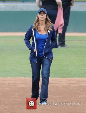 Jennifer Love Hewitt - Jennifer Love Hewitt and co-stars, Brian Hallisay and Rebecca Fields, seen filming a baseball scene for...
