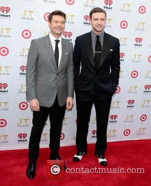 Ryan Seacrest and Justin Timberlake - Justin Timberlake's 'The 20/20 Experience' album release party hosted by Target and Clear Channel...