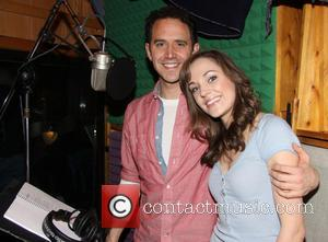 Santino Fontana and Laura Osnes - The recording session for the new Broadway production of 'Cinderella' held at MSR Studios...