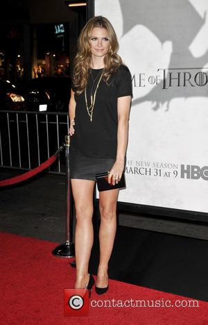 Stana Katic - Premiere of the third season of HBO Series 'Game of Thrones' - Arrivals - Los Angeles, CA,...