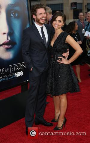 Richard Madden and Jenna-Louise Coleman - Premiere of the third season of HBO Series 'Game of Thrones' - Arrivals -...