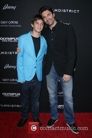 Gilles Marini and son Georges Marini - Los Angeles Premiere of 'Olympus Has Fallen' held at ArcLight Hollywood Theatre -...